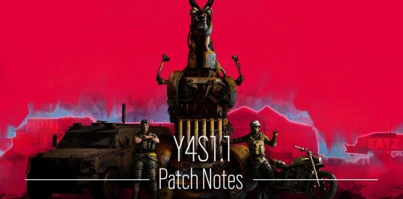 Rainbow Six: Siege – Y4S1 1.1 Patch Notes