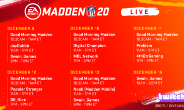 Madden NFL 20 – Title Update | December 2019 – Salary Cap